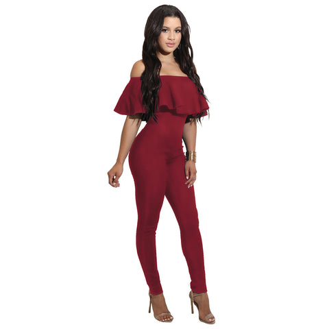 Frilled to Pieces Off-the-Shoulder Jumpsuit