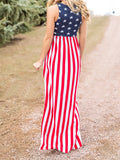 Star Power Sleeveless Maxi Dress