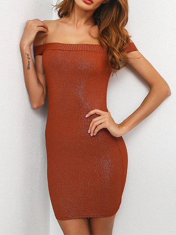 Women Sexy Shiny Bodycon Mini Dress