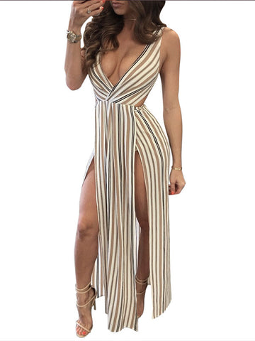 Kiss On My List Slit Plunging Dress