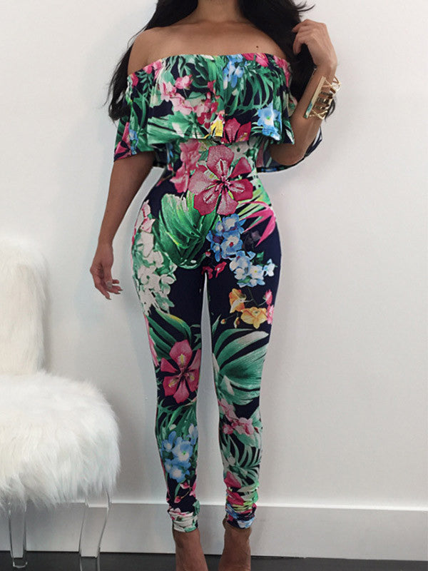 Stretch the Rules Floral Jumpsuit