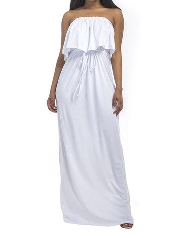 Just for You Cold Shoulder Maxi Dress