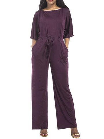 Plus Size Causal Loose Jumpsuit