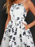 Women Sling Floral Mini Dress