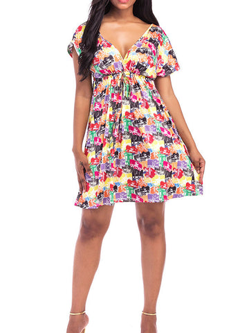 Summer V Neck Floral Dress