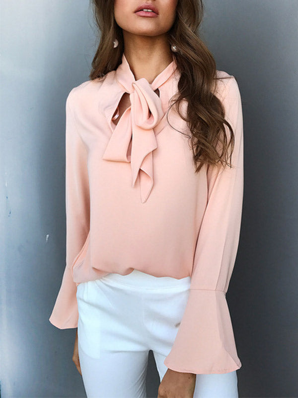 Ties on the Prize Bell Sleeve Blouse