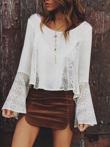 Open Secrets Bell Sleeve Lace Top