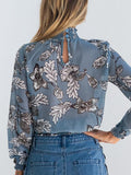 Summer Long Sleeve Floral Top