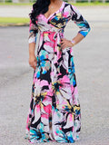 Sexy Women's Digital Printing Maxi Dress