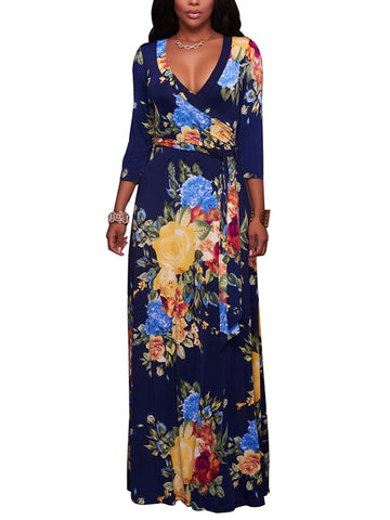 Flower Up Plunging Maxi Dress