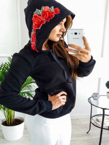 Late Bloomer Embroidered Hooded Sweatshirt