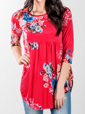 Flower Play Ruffle Top