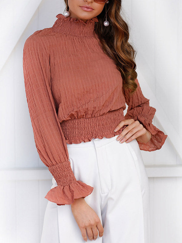 Stop Over Ruffle Turtle Neck Top