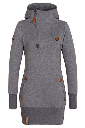 Fashionable Women Zipper Hoodie Sweatshirt - FIREVOGUE