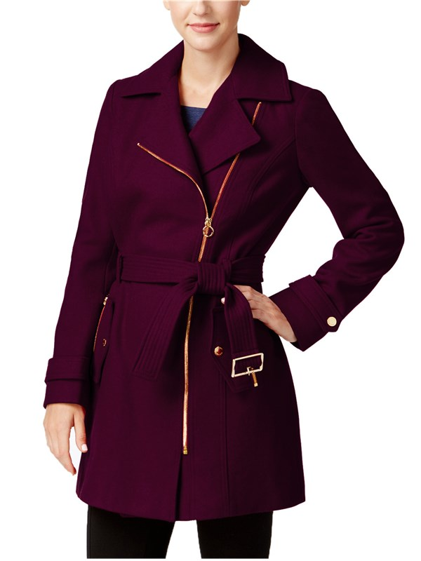 Back For Good Zip Coat With Belt