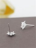 Christmas Snow Silver Earrings - FIREVOGUE
