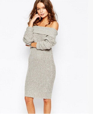 Strapless Collar Knit Sweater - FIREVOGUE