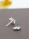 Christmas Snow Silver Earrings