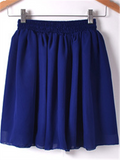 WealFeel Solid color High-waisted Double-layer Chiffon Skirt - WealFeel
