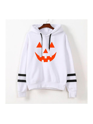 Women's Smile Pumpkin Hallowmas Casual Sweatshirt