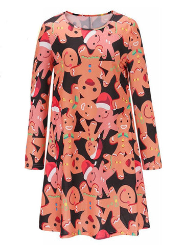 Christmas MUST HAVE Printed Dress - FIREVOGUE