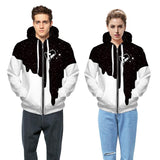 Star Pattern  Zip Hoodie Sweatshirt Jacket
