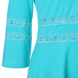 Round Neck Lace Waist Top - FIREVOGUE