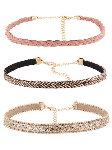 Pink Trip Fashion Choker(3-pack)