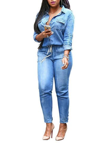 Women's Plus Size Denim Jumpsuits