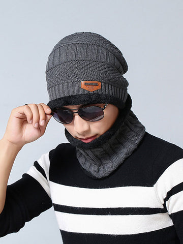 Before The Winter Unisex Knitted Hat& Infinity Scarf Set