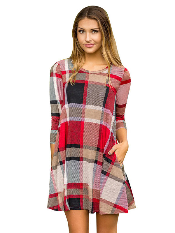 Got Your Attention Plaid Dress