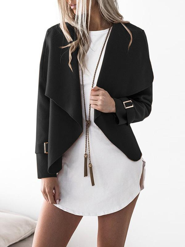 Falling For It Casual Lapel Collar Coat