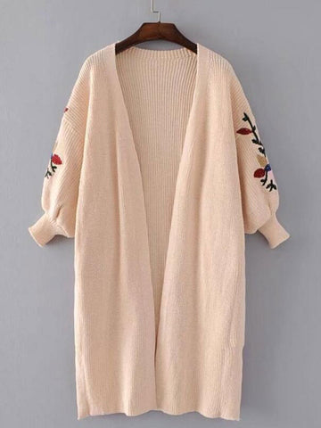 Sunny Cloudy Loose Embroidered Sweater Cardigan