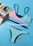 Shine Your Way Bright Color Bikini Sets - FIREVOGUE