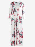 Long Sleeve Retro Floral Dress