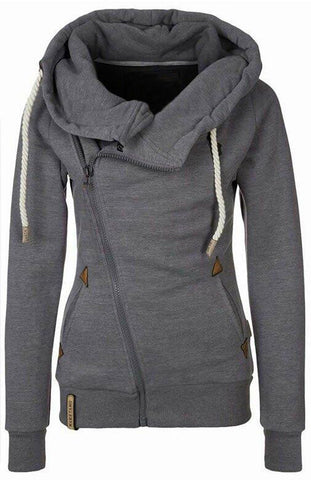 Hooded Side Zipper Sweatshirt