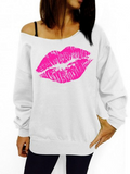 Red Lip Relaxed Sweatshirt - FIREVOGUE
