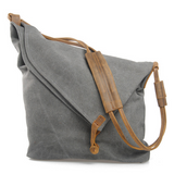 Classic Crossbody Messenger Bag With Cow Leather Strap - FIREVOGUE