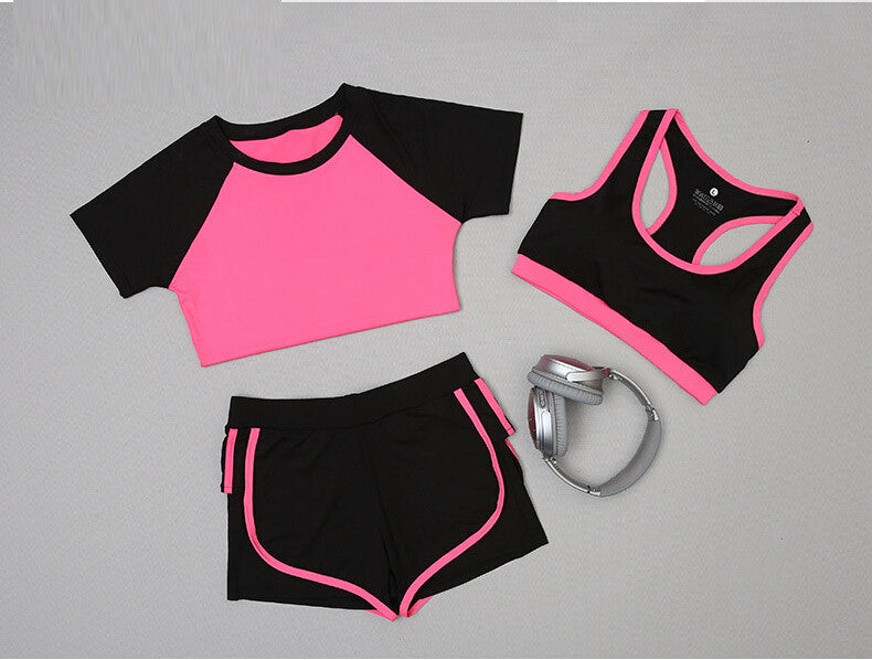 Three-piece Set Women's Sports Outfit
