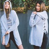 Women's Hooded Cardigan Sweater with Pockets