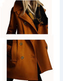 Double Breasted Woollen Coat - FIREVOGUE