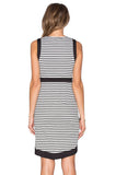 Stripe of Girl Asymmetric Dress - FIREVOGUE
