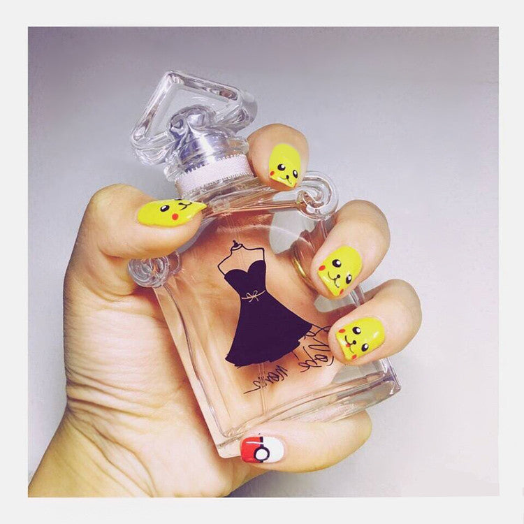 Pokemon Go!Pikachu False Nails/fake Nails