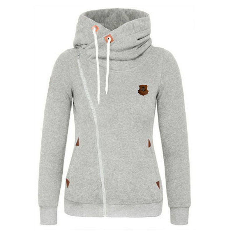 Hooded Side Zipper Sweatshirt - FIREVOGUE