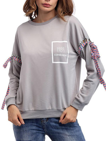 Women's Solid Color Casual Sweatshirt