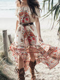 Hang in There Off-the-Shoulder Maxi Dress