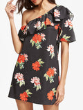 Body Talk One Shoulder Floral Dress