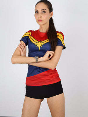 Captain Marvel Tight T-shirt - FIREVOGUE