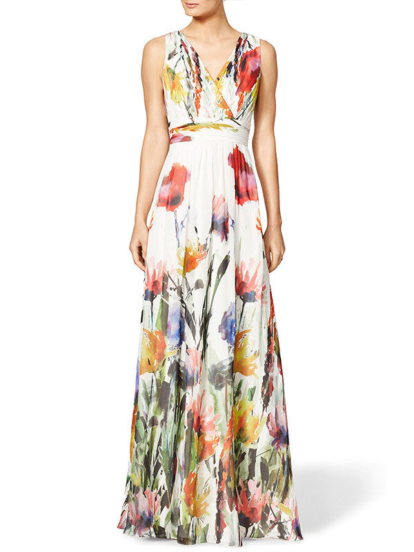 Knock You Out Floral Maxi Dress
