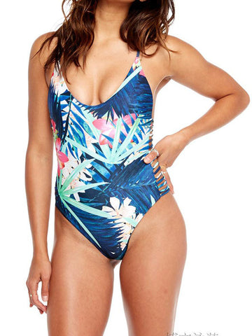 Meet Me In the Print One-piece Swimsuit - FIREVOGUE